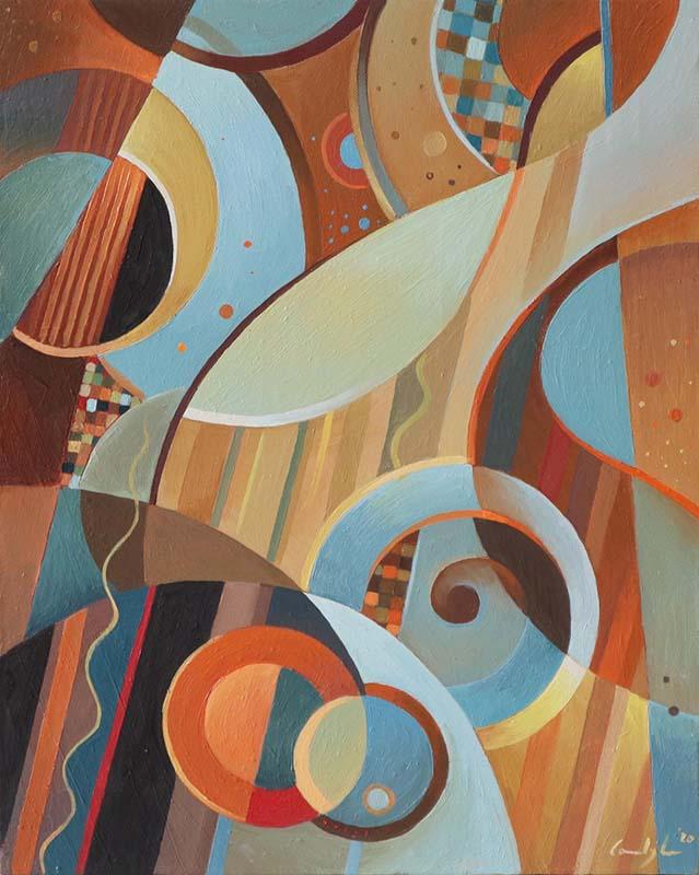 """Composizione 2"" - Olio su tela, 40 x 50 cm (2020)"