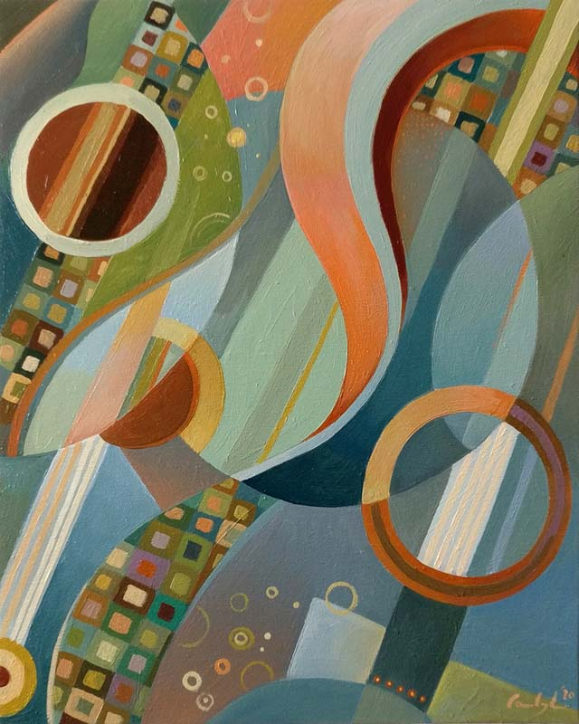 """Composizione 5"" - Olio su tela, 40 x 50 cm (2020)"