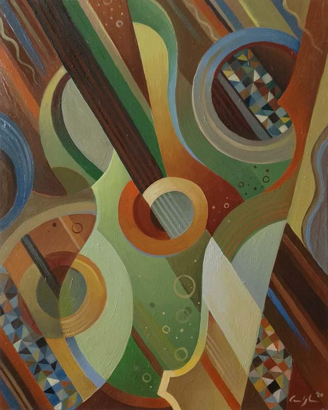 """Composizione 3"" - Olio su tela, 40 x 50 cm (2020)"