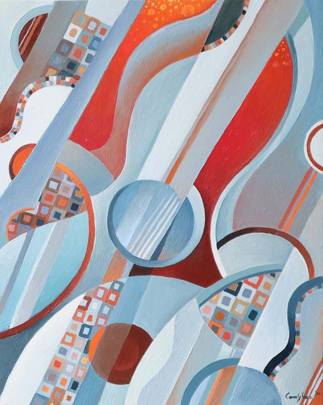 """Composizione 4"" - Olio su tela, 40 x 50 cm (2020)"