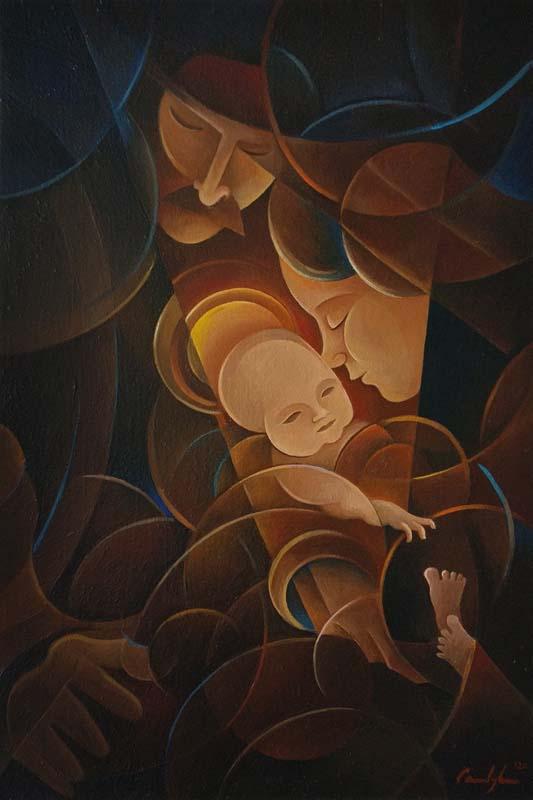 """Natività"" - Olio su tela, 40 x 60 cm (2020)"