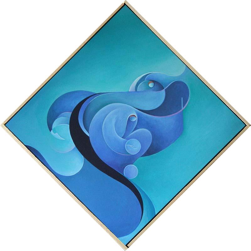 """""""Esistere Resistere"""" - Acrilico su tela, 80 x 80 cm (2011)"""