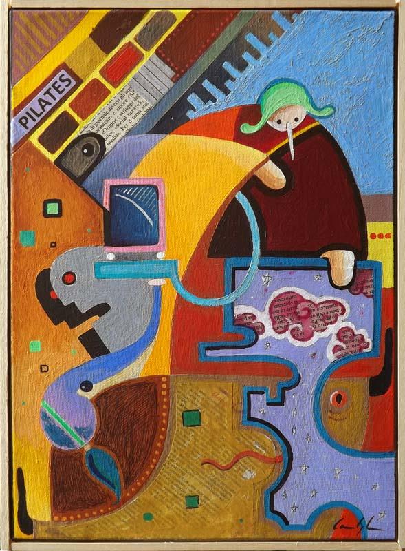 """""""L'enigma di Pinocchio"""" Acrilico su tela (2011)"""