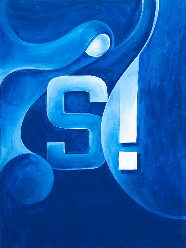"""""""Standouter"""" Acrilico su tela, 40 x 60 cm (2012) COLLEZIONE PRIVATA"""
