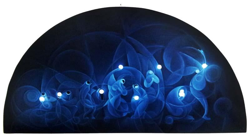 """""""L'istante"""" - Olio su tavola, 75 x 148 cm (2014)"""