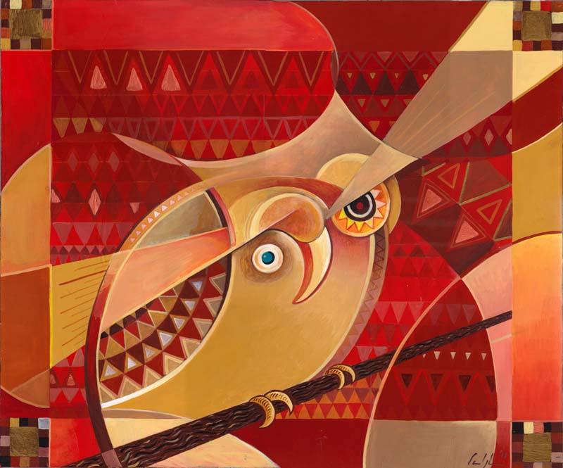 """""""Kobi kobi"""" - Acrilico su tavola, 50 x 60 cm (COLLEZIONE PRIVATA)"""