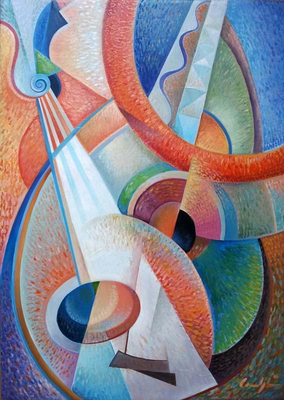 """""""Concerto per mandolini"""" - Olio su tela, 50 x 70 cm (2016)"""