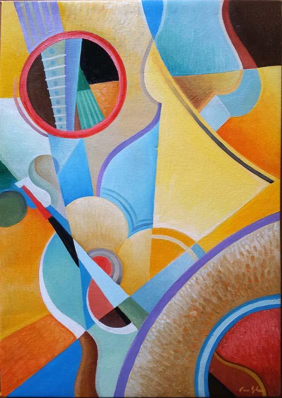 """""""Composizione fredda"""" - Olio su tela, 35 x 50 cm (2016)"""