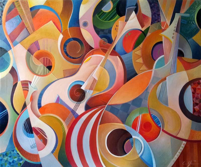 """Musica Picta """"Miriam"""" - Olio su tela, 100 x 120 (2016) COLLEZIONE PRIVATA"""