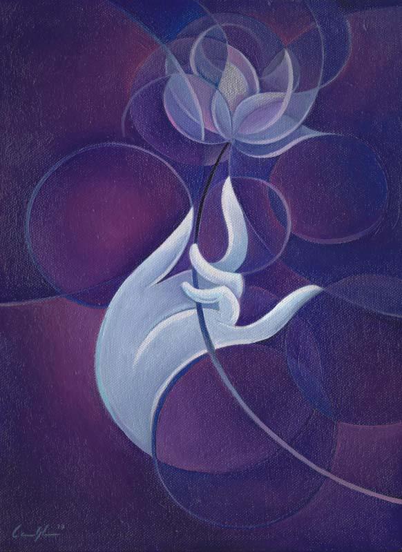 """Lotus"" - Olio su tela, 25 x 35 (2016)"