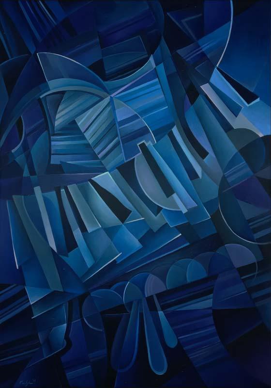 """""""Notturno per pianoforte"""" - Olio su tela, 70 x 100 (2017)"""
