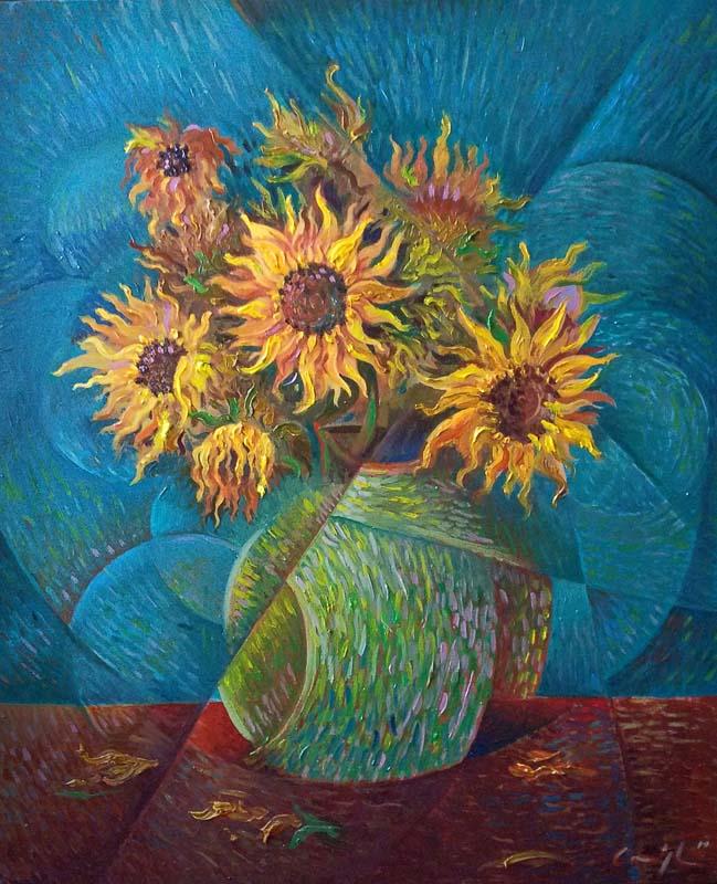 """""""I girasoli"""" - Olio su tela, 50 x 60 cm (2019)"""