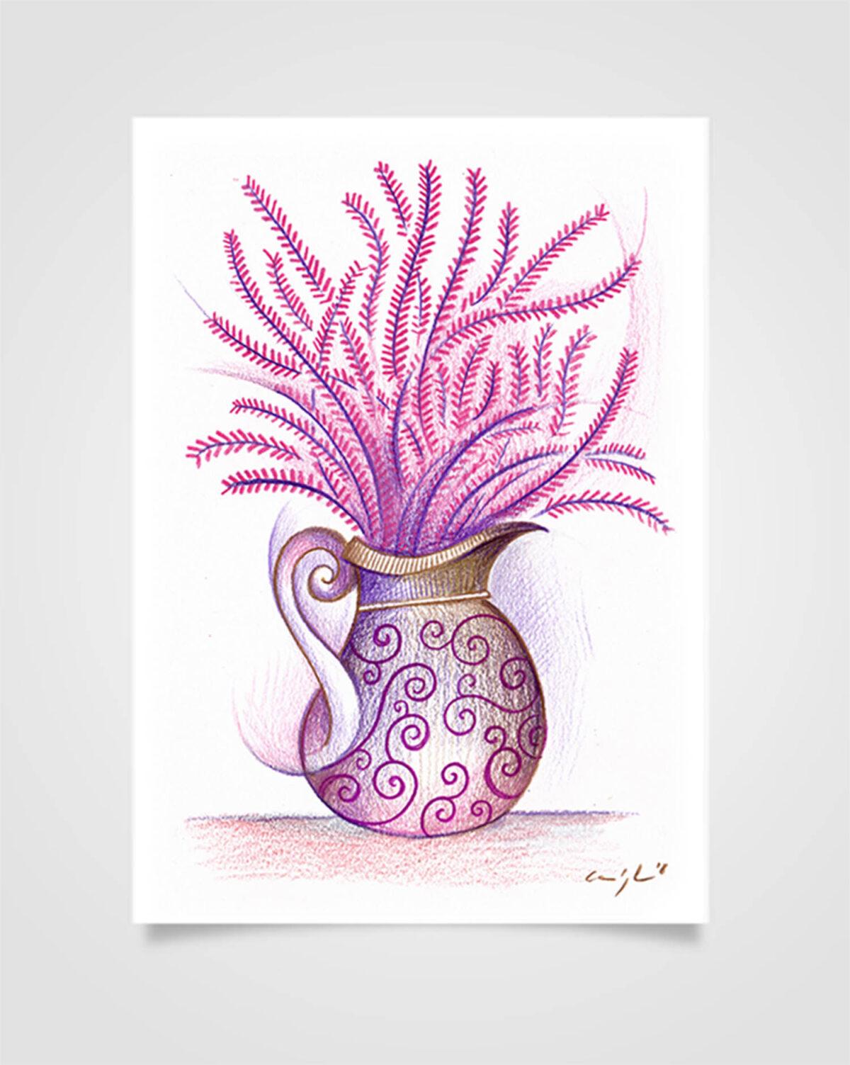 """""""Flora - Erica"""" Pastelli su carta, 14,8 x 21cm"""