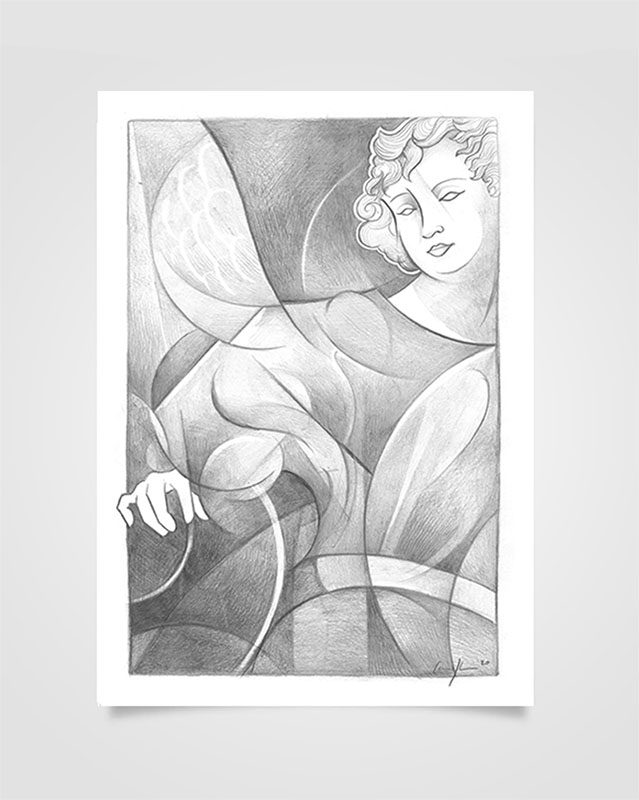 """Arcangelo Michele"" Disegno a matita su carta (2020))"