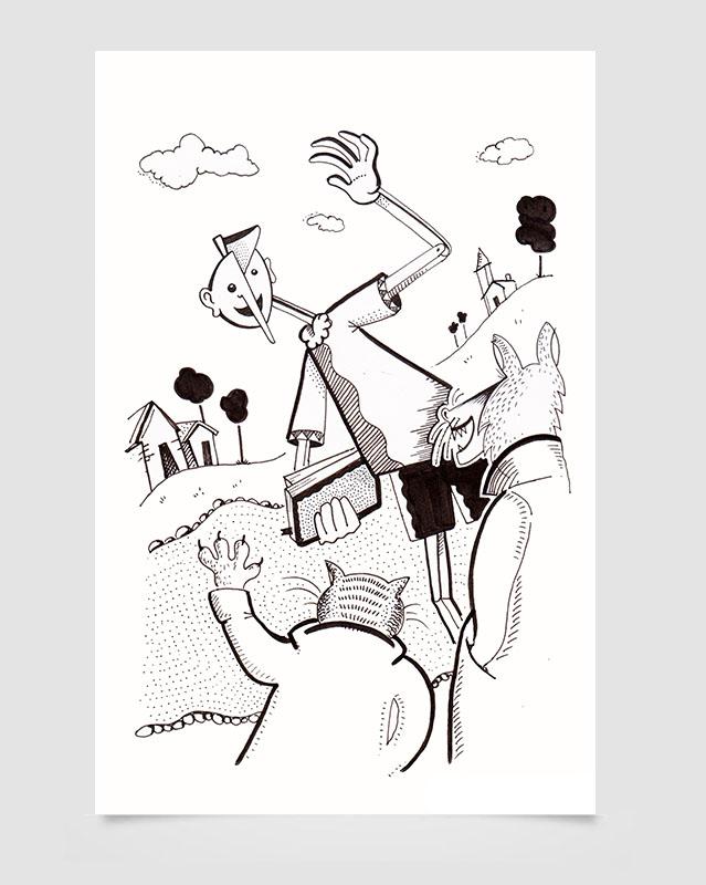 """""""Il Gatto e la volpe"""" - Pinocchio 2016"""