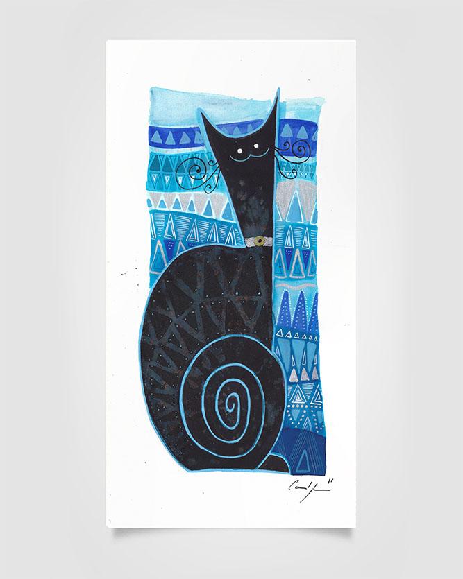 """La spirale nera"" Ecoline su carta (2016)"