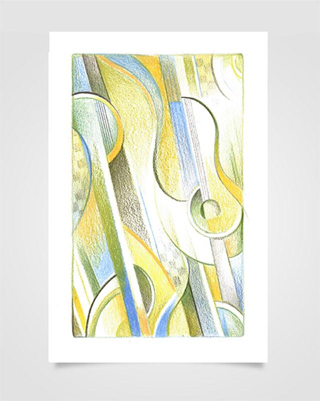 """""""Musica Picta - J. Sibelius"""" - Matite su carta, 14,8 x 21 cm (2020)"""