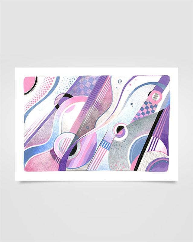 """Musica Picta - I. Stravinsky"" - Matite su carta, 19 x 28 cm (2020)"
