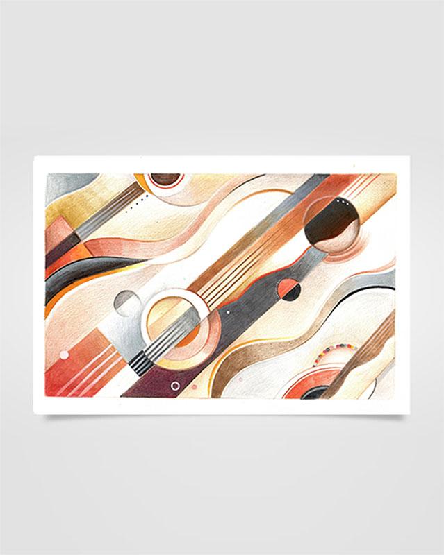"""""""Musica Picta - G. Gershwin"""" - Matite su carta, 19 x 28 cm (2020)"""