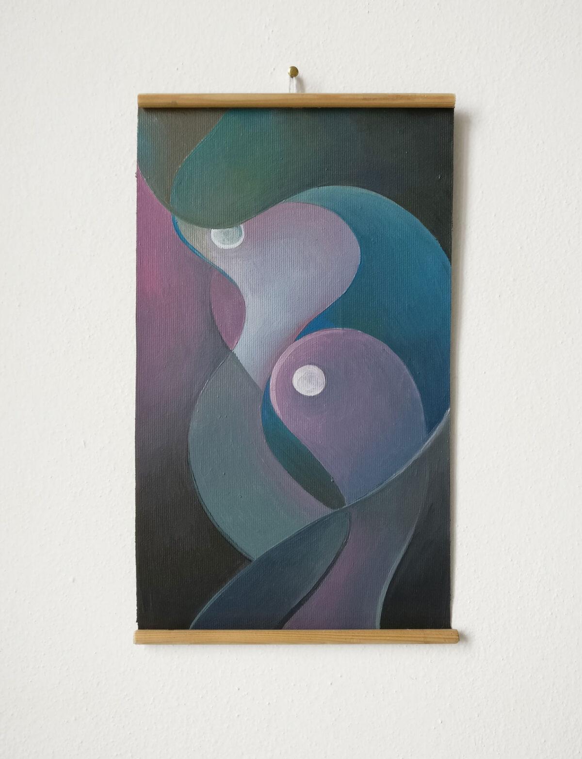 """""""Studio Fluttuante n.1"""" - Olio su tela, 18,5 x 31,5 cm (2021)"""