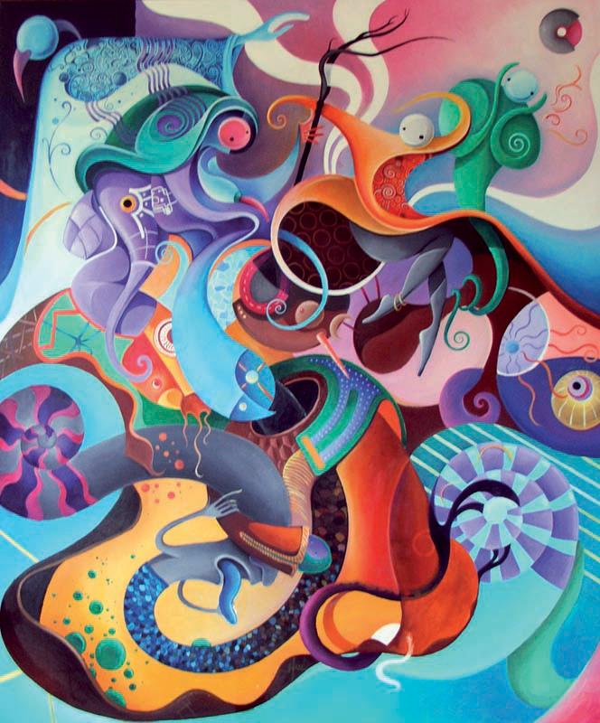 """""""Apoteosi di un dilettante"""" Olio su tela, 100 x 120 cm (2009) COLLEZIONE PRIVATA"""