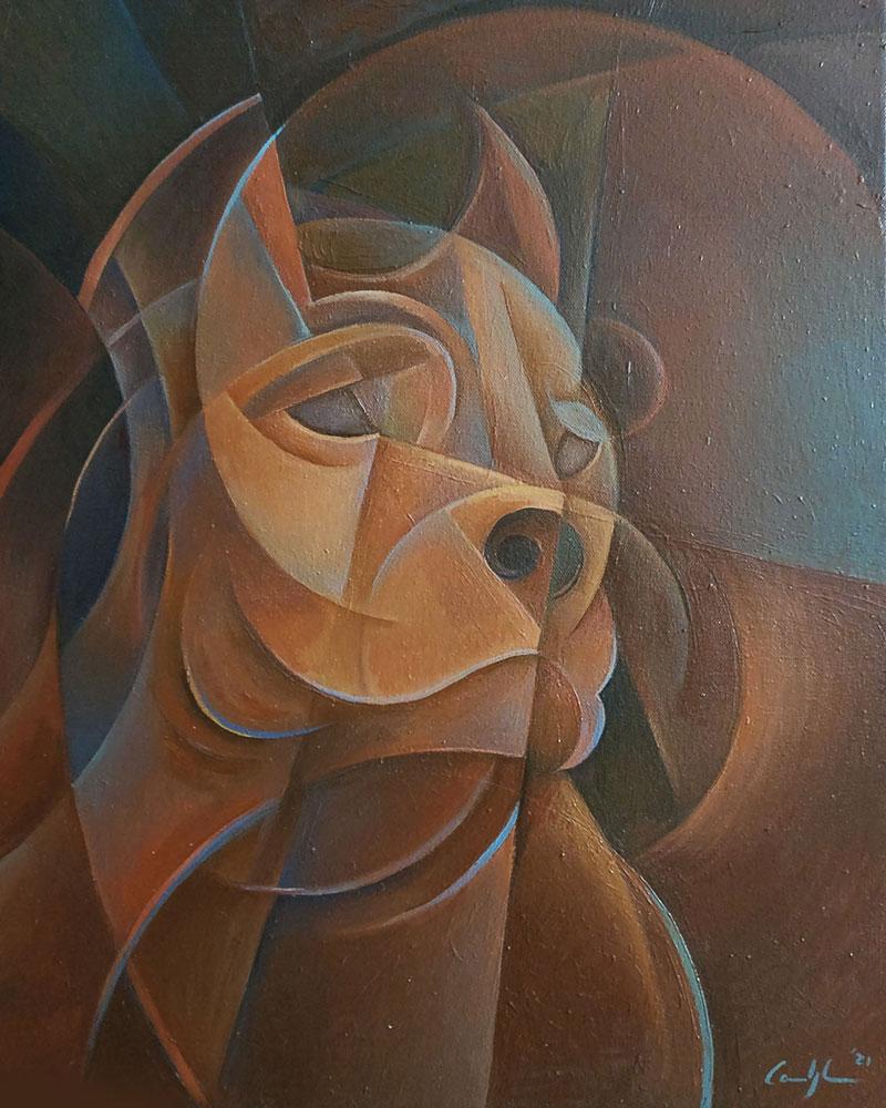"""""""Jago"""" - Olio su tela, 40 x 50 cm (2021) COLLEZIONE PRIVATA"""
