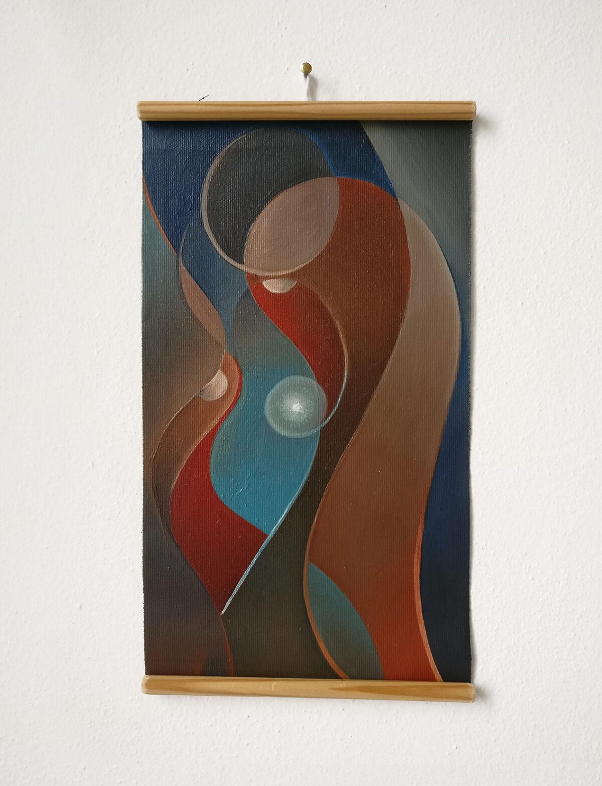 """""""Studio Fluttuante n.2"""" - Olio su tela, 18,5 x 31,5 cm (2021)"""