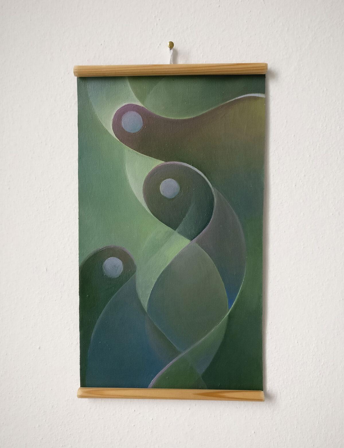 """""""Studio Fluttuante n.3"""" - Olio su tela, 18,5 x 31,5 cm (2021)"""