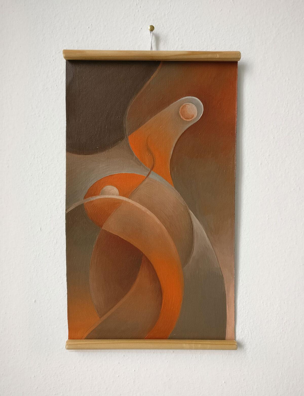 """""""Studio Fluttuante n.4"""" - Olio su tela, 18,5 x 31,5 cm (2021)"""