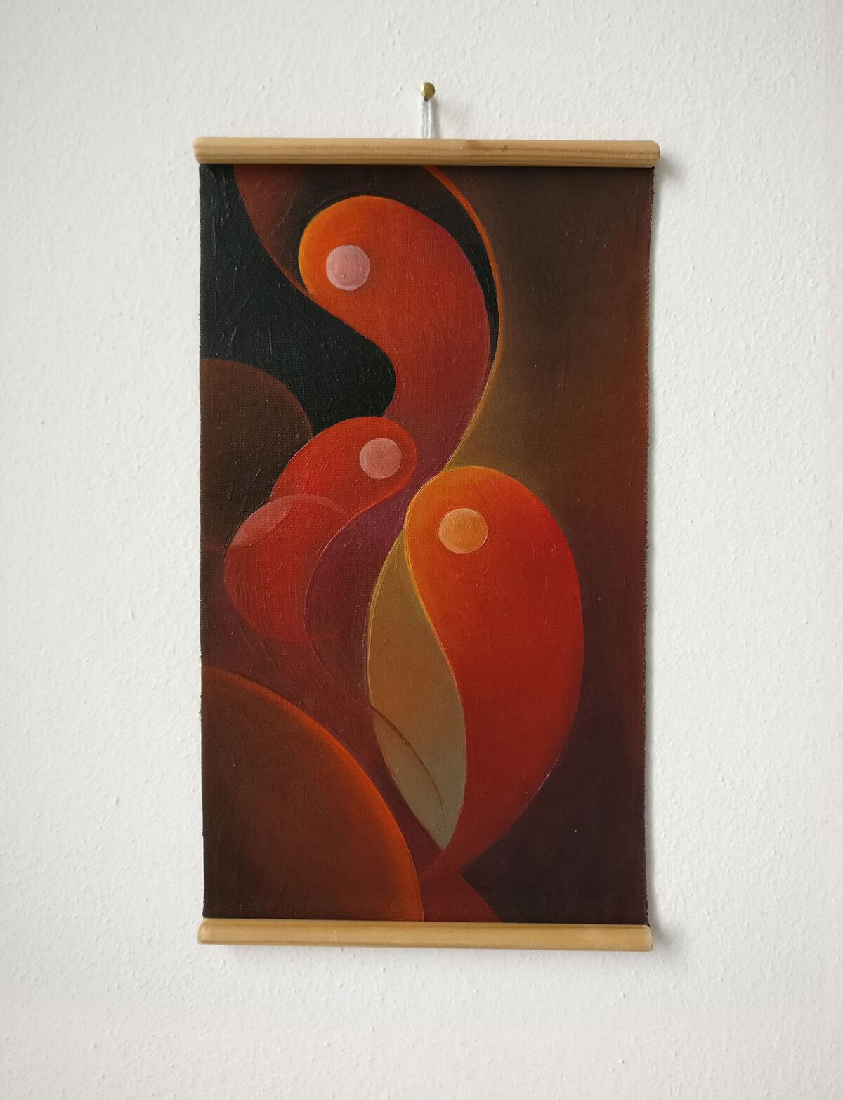 """""""Studio Fluttuante n.5"""" - Olio su tela, 18,5 x 31,5 cm (2021)"""