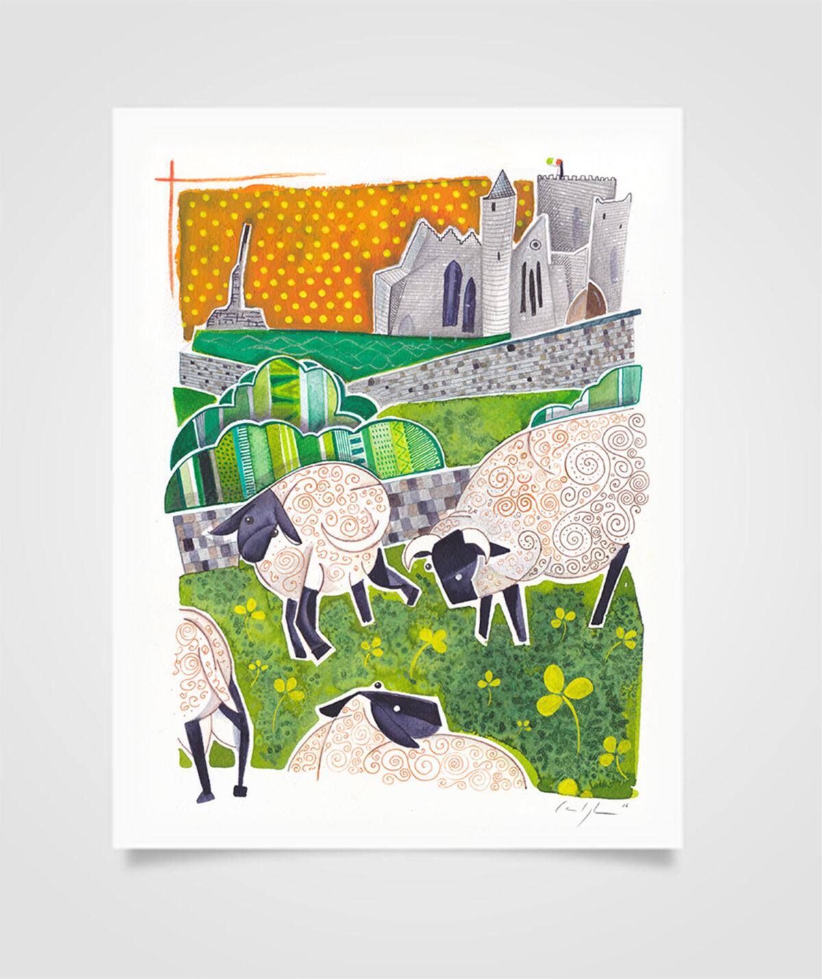 """Eire - Kilkenny Castle"" Tecniche miste su carta, 21 x 29,7 cm (2016)"