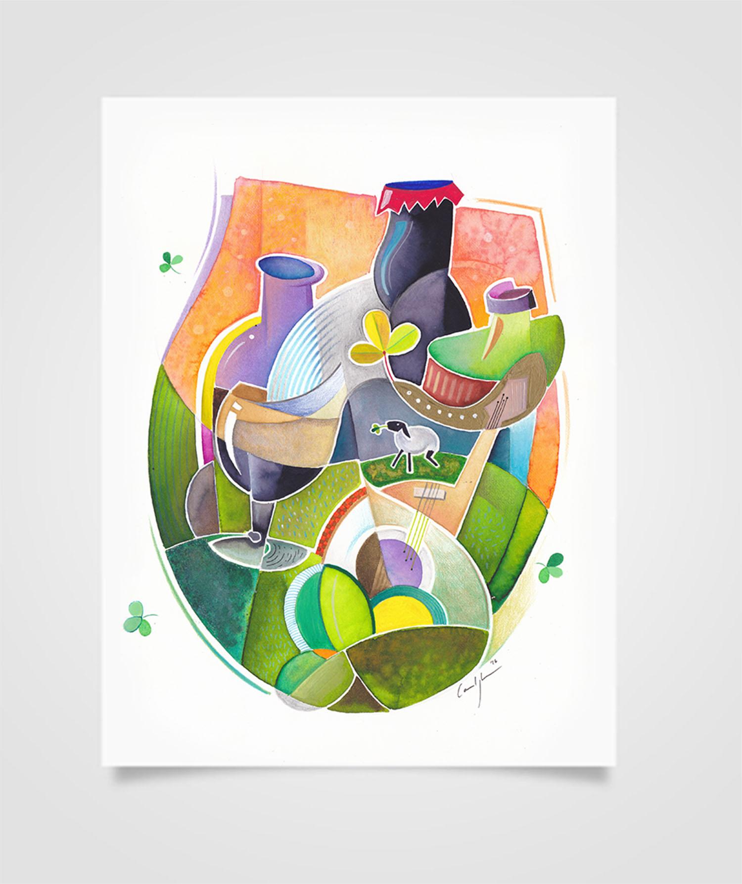 """""""Eire - Lungo il Connemara"""" Tecniche miste su carta, 21 x 29,7 cm (2016)"""