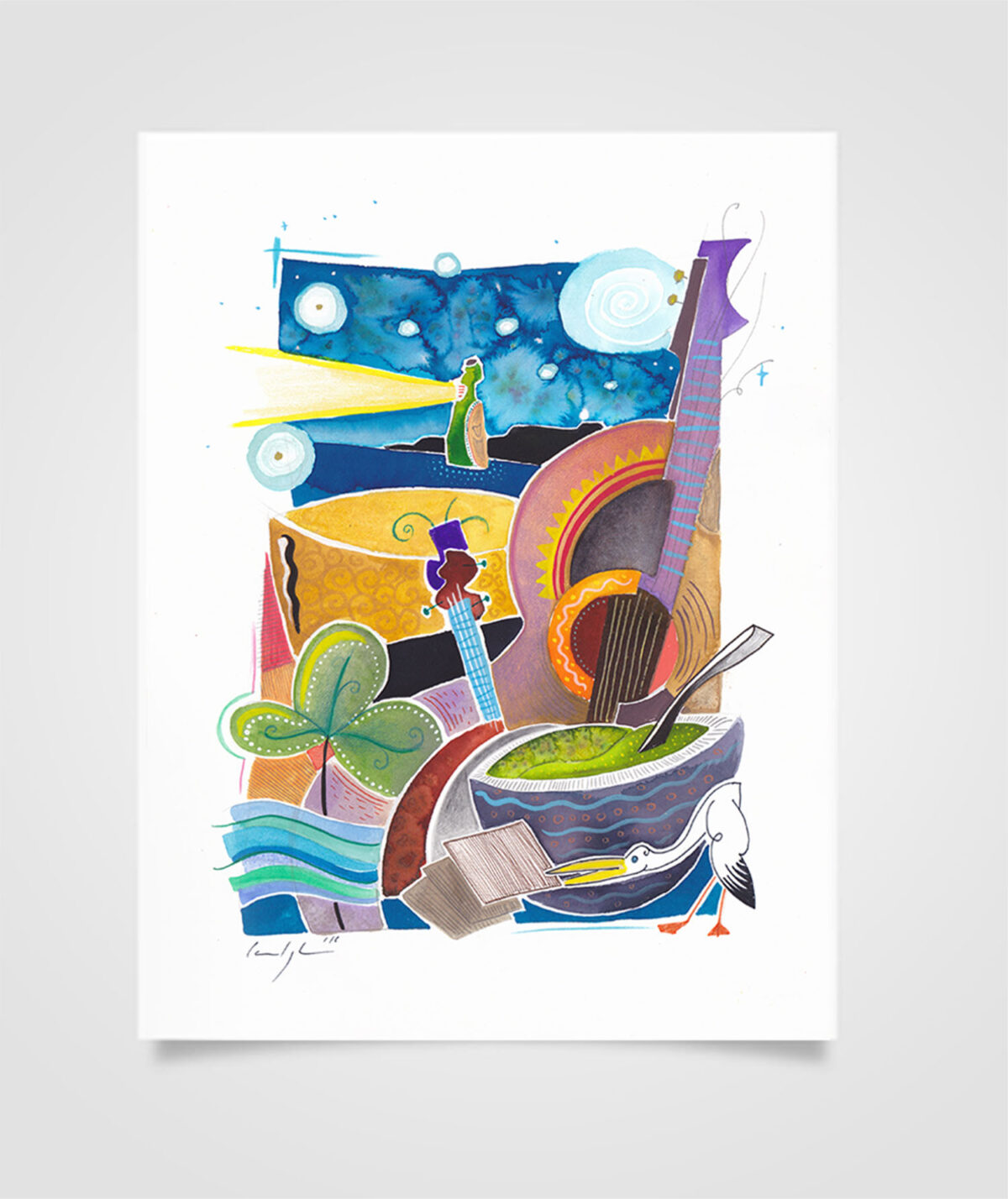 """Eire - Soup of the day"" Tecniche miste su carta, 21 x 29,7 cm (2016)"