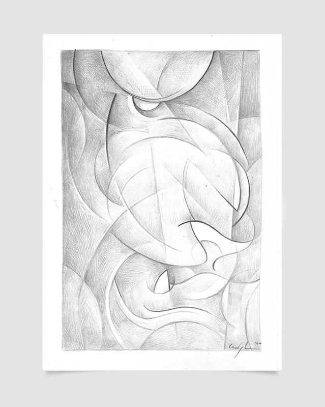 """""""Studio di un Leone"""" Disegno a matita su carta (2021)"""